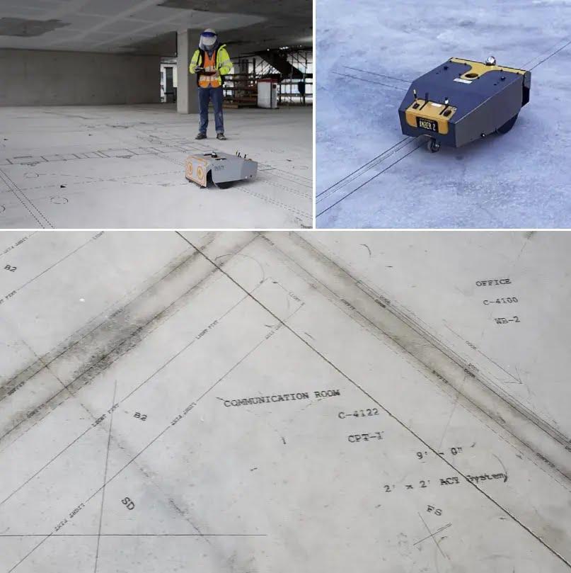 levantamiento y replanteo en obra y construcción - Dusty Robotics